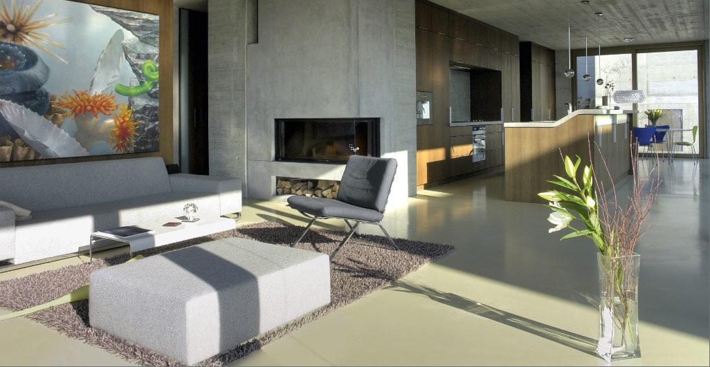 beton design - gietvloer in een appartement